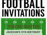 Free Printable Football Invitations for Birthday Party Football Party Invitation Template Free Printable