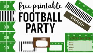 Free Printable Football Invitations for Birthday Party Football Party Invitation Template Free Printable