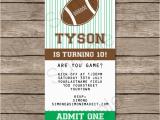 Free Printable Football Invitations for Birthday Party Football Ticket Invitation Template Ticket Invitations