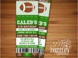 Free Printable Football Invitations for Birthday Party Printable Football Ticket Birthday Invitation Super Bowl