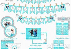 graphic regarding Frozen Banner Printable called No cost Printable Frozen Delighted Birthday Banner Templates Frozen
