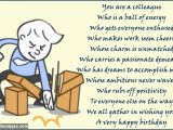 Free Printable Funny Birthday Cards for Coworkers Birthday Poems for Colleagues Page 2 Wishesmessages Com