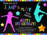 Free Printable Glow In the Dark Birthday Party Invitations Bounce House Glow In the Dark Neon Birthday Party