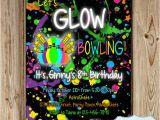 Free Printable Glow In the Dark Birthday Party Invitations Bowling Party Invitation Glow In the Dark Bowling