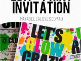 Free Printable Glow In the Dark Birthday Party Invitations Free Glow Party Invitation Download Edit and Print