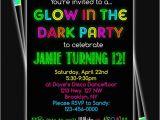 Free Printable Glow In the Dark Birthday Party Invitations Glow In the Dark Neon Birthday Party Printable Invitation