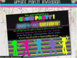 Free Printable Glow In the Dark Birthday Party Invitations Glow In the Dark Party Dance Party Invitation Invite