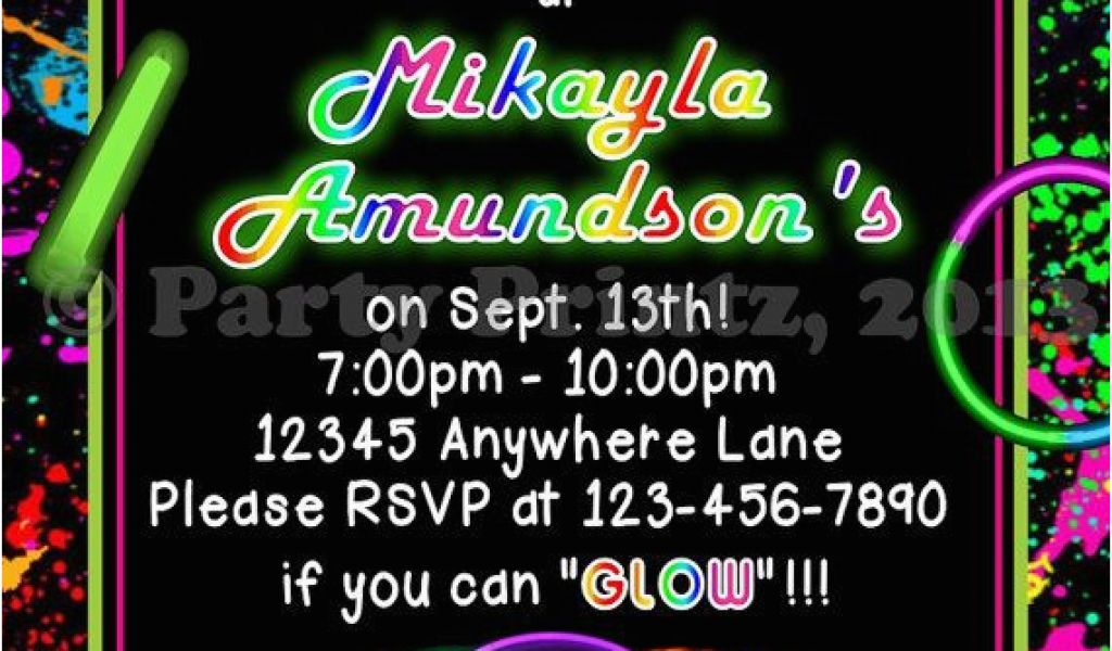 picture relating to Free Printable Glow Party Invitations called No cost Printable Shine Within the Darkish Birthday Bash Invites