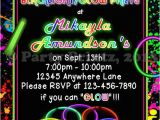 Free Printable Glow In the Dark Birthday Party Invitations Glow Party Skating Birthday Invitations You by
