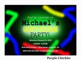 Free Printable Glow In the Dark Birthday Party Invitations Neon Glow Party Invite Glow In the Dark Birthday by