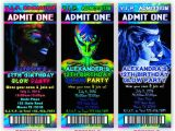 Free Printable Glow In the Dark Birthday Party Invitations Printable Glow Party Invitation Glow In the by