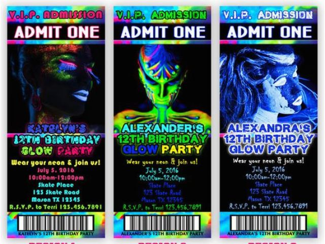 photograph about Free Printable Glow Party Invitations called Cost-free Printable Shine Inside of the Dim Birthday Social gathering Invites