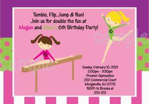 Free Printable Gymnastics Birthday Invitations 7 Best Images Of Gymnastic