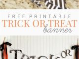 Free Printable Halloween Happy Birthday Banner Trick or Treat Halloween Banner Halloween Halloween