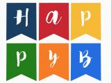 Free Printable Happy Birthday Banner Black and White Happy Birthday Banner Free Printable Paper Trail Design