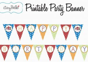 Free Printable Happy Birthday Banner Templates Pdf Free Printable Happy Birthday Banner Templates