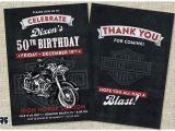 Free Printable Harley Davidson Birthday Cards Harley Davidson Biker Birthday Invitation Card Includes