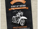 Free Printable Harley Davidson Birthday Cards Motorcycle Biker Birthday Invitation Vintage Motorcycle