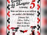 Free Printable Harley Quinn Birthday Invitations Harley Quinn Invitation by Arctcdesigns On Etsy