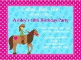 Free Printable Horse Birthday Party Invitations 4 Fancy Free Printable Horse Birthday Party Invitations