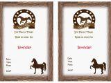 Free Printable Horse Birthday Party Invitations Free Printable Horse Birthday Invitation