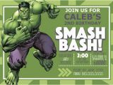 Free Printable Hulk Birthday Invitations Digital Incredible Hulk Birthday Invitation