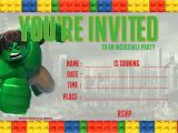 Free Printable Hulk Birthday Invitations Free Lego Hulk Birthday Invitation Template Free