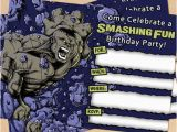 Free Printable Hulk Birthday Invitations Free Printable Grey Incredible Hulk Birthday Invitation
