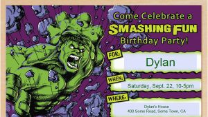 Free Printable Hulk Birthday Invitations Free Printable Incredible Hulk Birthday Invitation