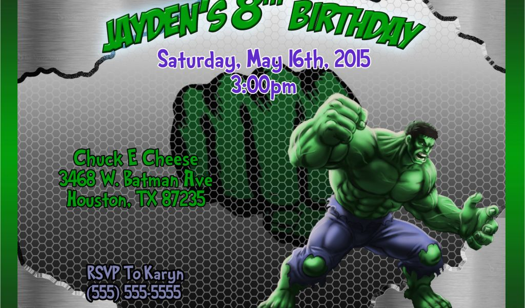 Download By SizeHandphone Tablet Desktop Original Size Back To Free Printable Hulk Birthday Invitations