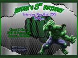 Free Printable Hulk Birthday Invitations Hulk Birthday Invitation Kustom Kreations