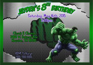 Free Printable Hulk Birthday Invitations Invitation Kustom Kreations