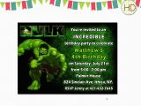 Free Printable Hulk Birthday Invitations Hulk Invitation Hulk Birthday Invitation Hulk by Hdinvitations