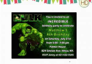 Free Printable Hulk Birthday Invitations Invitation By Hdinvitations