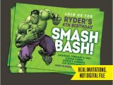 Free Printable Hulk Birthday Invitations Hulk Invitation Hulk Birthday Invitation