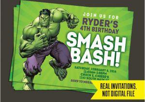 Free Printable Hulk Birthday Invitations Invitation