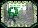 Free Printable Hulk Birthday Invitations Hulk Party Invitations Free