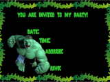 Free Printable Hulk Birthday Invitations Ideias Para Festa Infantil Do Incrivel Hulk Festa De
