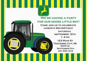 Free Printable John Deere Birthday Invitations