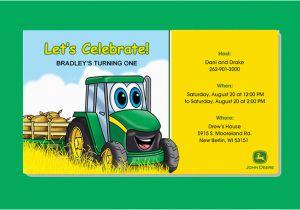 Free Printable John Deere Birthday Invitations