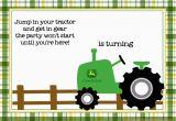 Free Printable John Deere Birthday Invitations Free Printable John Deere Tractor Birthday Invitation