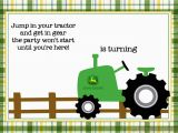 Free Printable John Deere Birthday Invitations Free Printable John Deere Tractor Birthday Invitation