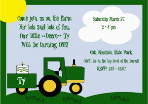Free Printable John Deere Birthday Invitations Ideas Bagvania