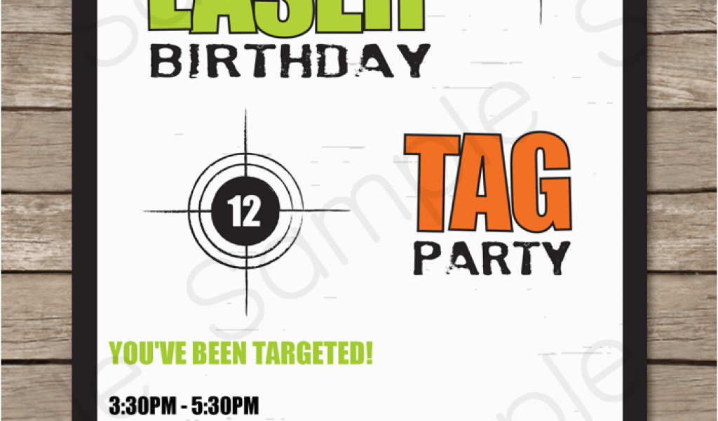 Download By SizeHandphone Tablet Desktop Original Size Back To Free Printable Laser Tag Birthday Invitations