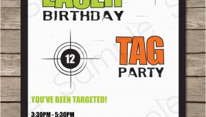 Free Printable Laser Tag Birthday Invitations Free Printable Laser Tag Birthday Party Invitations