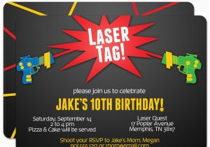 Free Printable Laser Tag Birthday Party Invitations Best