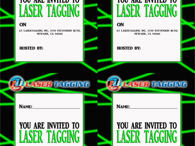 photograph relating to Laser Tag Invitations Free Printable identified as Absolutely free Printable Laser Tag Birthday Social gathering Invites Laser