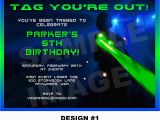 Free Printable Laser Tag Birthday Party Invitations Laser Tag Invitation Laser Tag Invite Party Printable