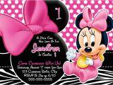 Free Printable Minnie Mouse 1st Birthday Invitations Free Minnie Mouse 1st Birthday Zebra Print Invitations