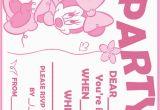 Free Printable Minnie Mouse 1st Birthday Invitations Printable Minnie Mouse Birthday Invitations Bagvania